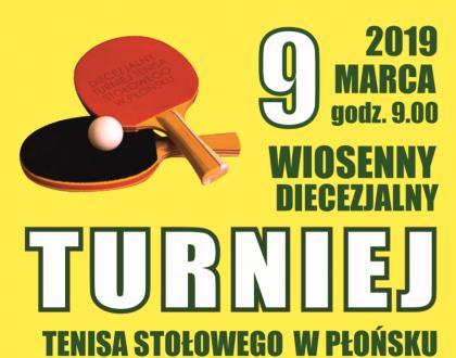 Wiosenny Turniej Tenisa Stołowego - 9 marca